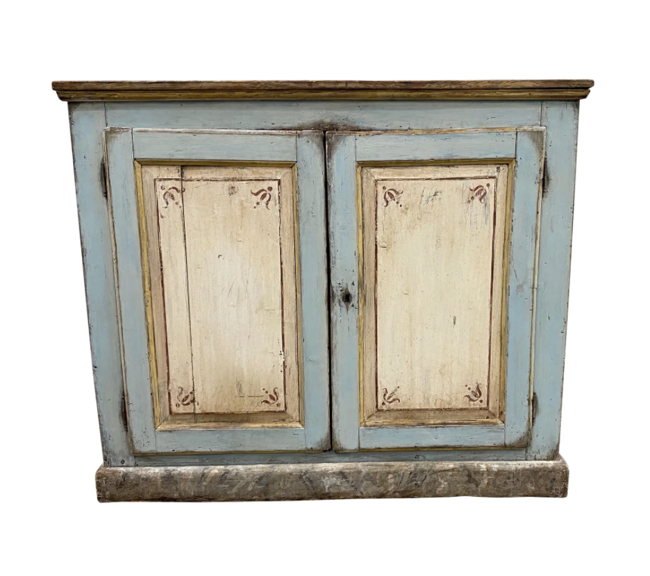 Italian Antique Painted Buffet - 19th C